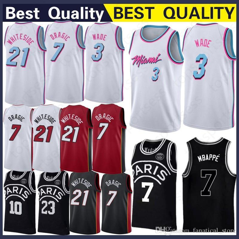53e6da3d150 ... denmark 7 goran dragic jersey 3 dwyane wade 21 hassan whiteside  basketball wear basketball jerseys top ...