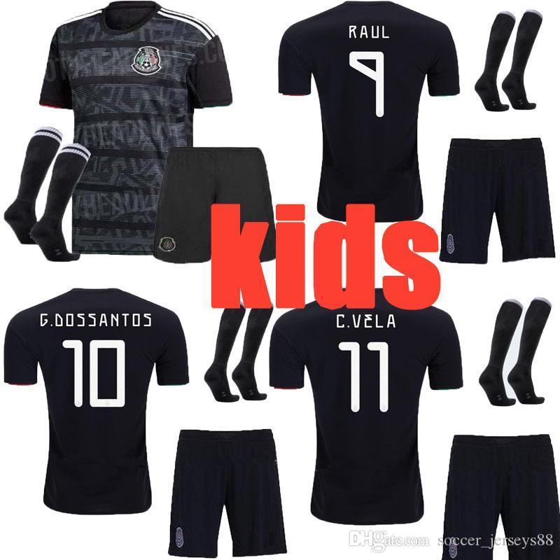 Gold Cup 2020.Kids Gold Cup 2019 2020 Camisetas Mexico 19 20 Children Baby Soccer Jersey Chicharito Lozano Marquez Dos Santos Uniforms Football Shirt
