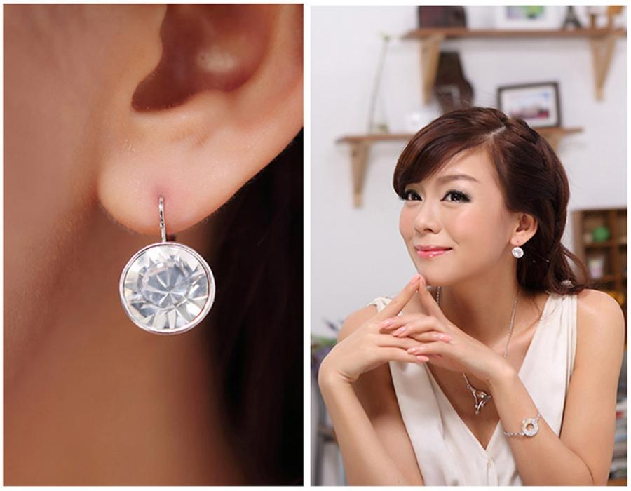 269dc49cd 2019 Clear Crystal From Swarovski Earrings Bella Pierced Drop Dangle  Earrings For Women From Idestiny, $5.02 | DHgate.Com