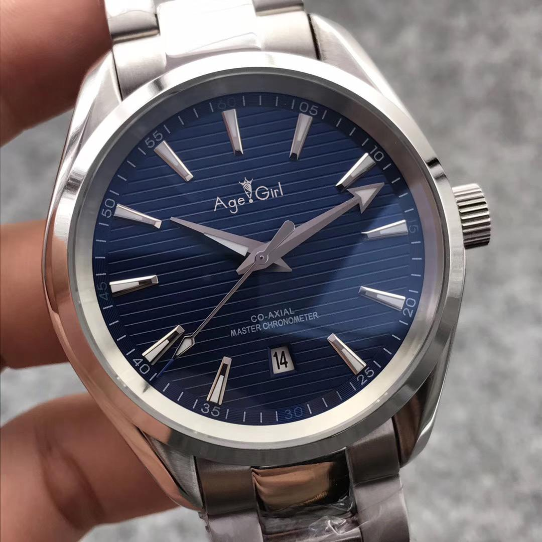 5feefc4c5b9c Compre 2019 Nuevos Hombres Reloj Acero Inoxidable Negro Marrón Cuero Aqua  Terra Impermeable Automático Mecánico Sport Azul Plata A  151.63 Del  Value111 ...