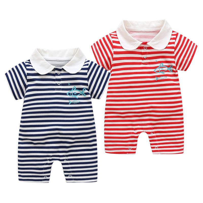 bc66e8ada good quality Summer Newborn Rompers Baby Boys Girls Rompers Outfits Infant  Rompers Boys Jumpsuit Clothing Striped Toddler Jumpsuit