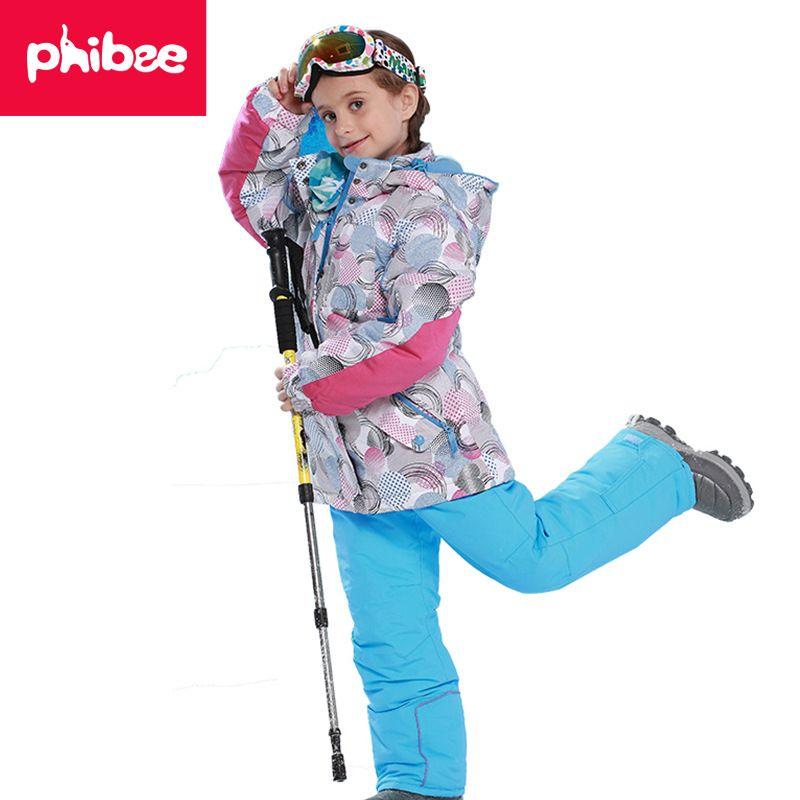 Children Kids Waterproof Windproof Ski Suit Boys Ski Jacket And ... 019b0e262
