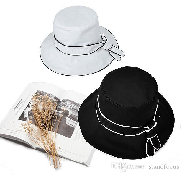 Stand Focus Women Floppy Bucket Hat Boonie Wide Brim Cap Outdoor Fashion  Stylish Spring Summer Cotton Twill Elegant Knot Linen Floppy Hat Slu Ed  Online with ... 029185ab074