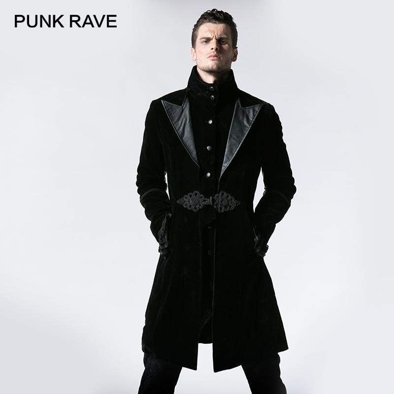 PUNK RAVE Gothic Vintage Duster Long Tuxedo Men Coat Handsome Windbreaker  Unisex Goths Flat Flannelette Euro Style Jacket UK 2019 From Stylefisher b2e034d6b239