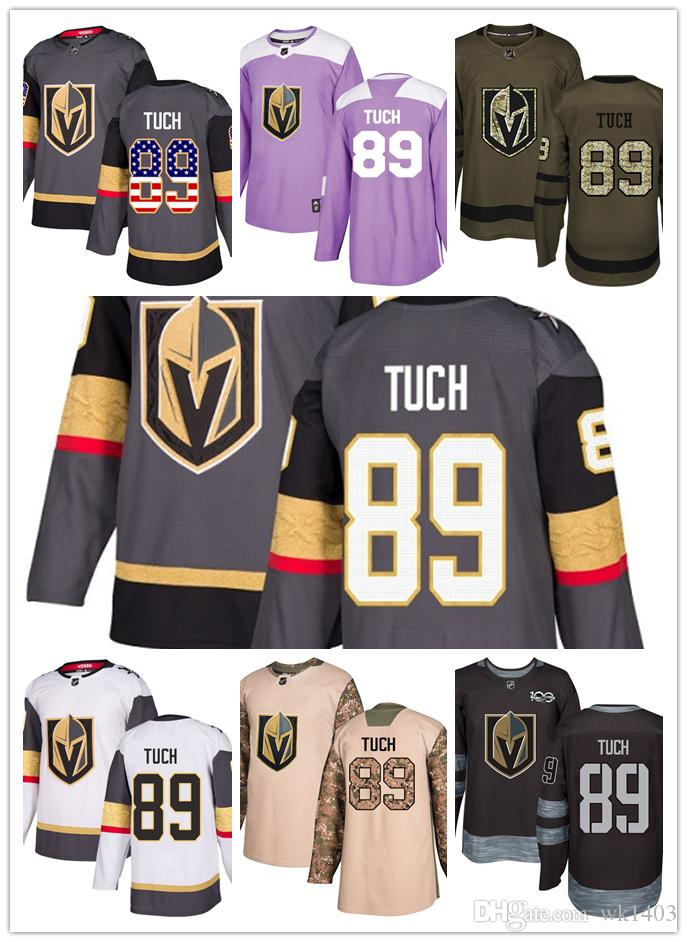 buy popular 027e2 f0e1f Vegas Golden Knights jerseys #89 Alex Tuch jersey ice hockey men women gray  white black Authentic winter classic Stiched gears Jersey