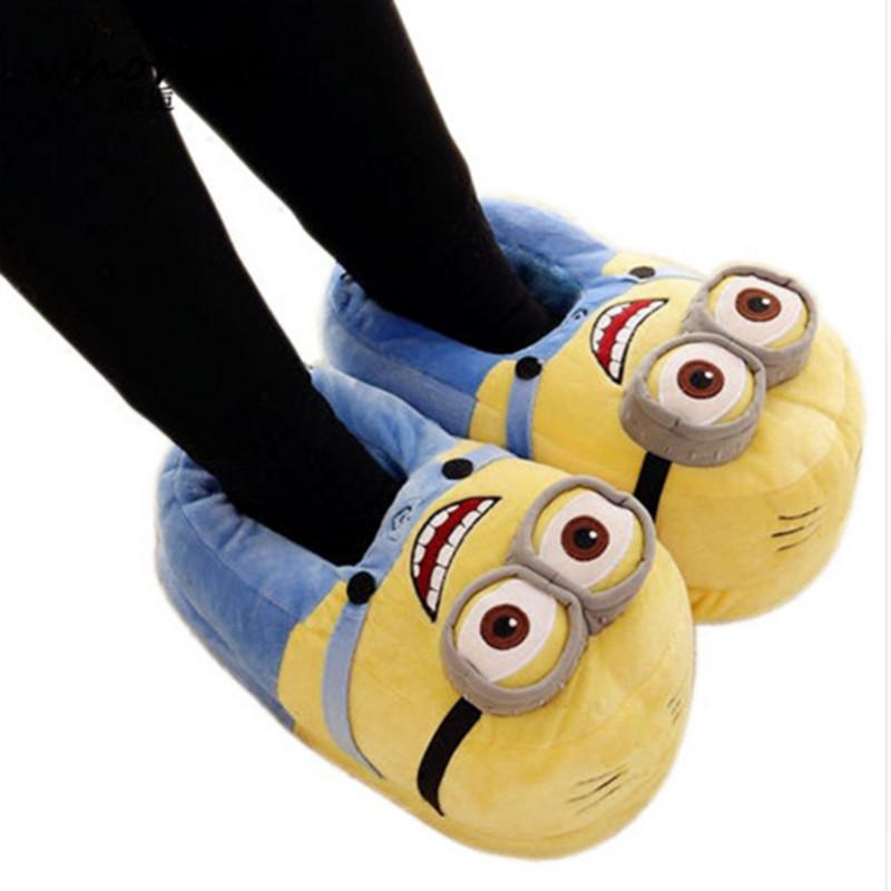 Whoholl Winter Home Slipper Man Zapatillas de interior Peluches rellenos de felpa Flock Cosplay House Shoes