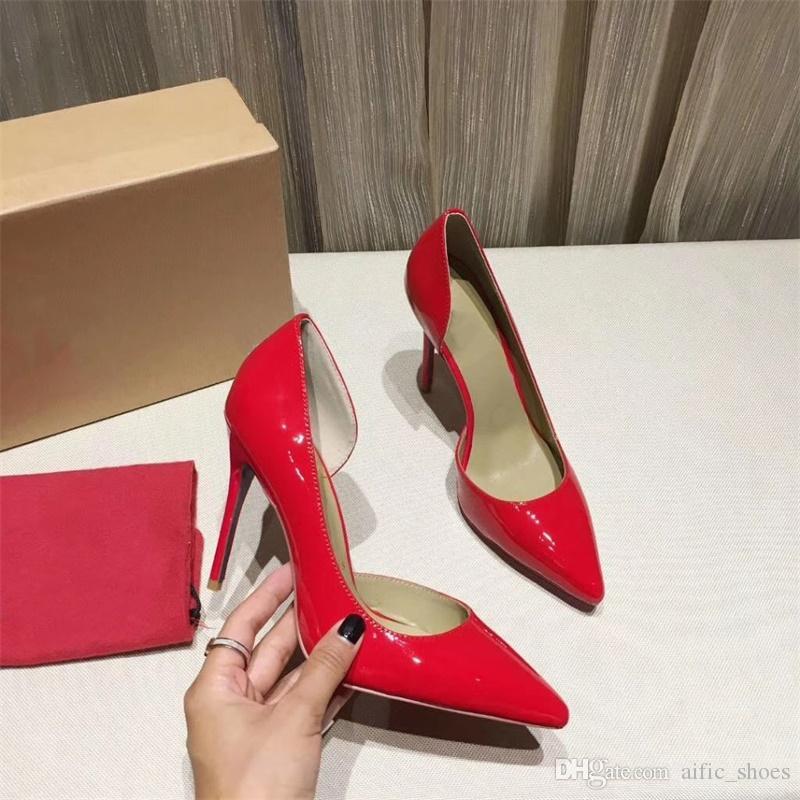 Stilettos Color Diseñador Estrecha Bombas Mujer Altos Rojos Lentejuelas Brillo De Inferiores Moda Punta 15 Tacones Zapatos Con BrdeQWCxEo