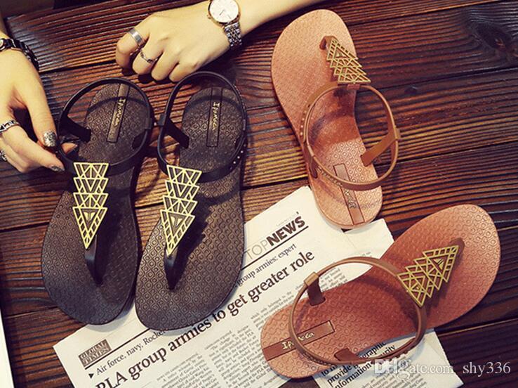 ed9faf9e26c2 NEW Designer Slipper Gear Bottoms Women Sandals Causal Non Slip Summer  Huaraches Slippers Flip Flops Slipper BEST QUALITY Reef Sandals Gold Shoes  From ...
