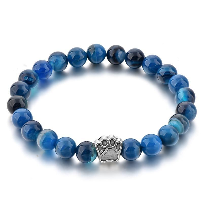 2018 New Crystal Bracelet Men Blue Balance Beads Fashion Bracelet Dog  Natural Stone Elastic Adjustable Bracelets For Women UK 2019 From Tenni cc35dbbc3