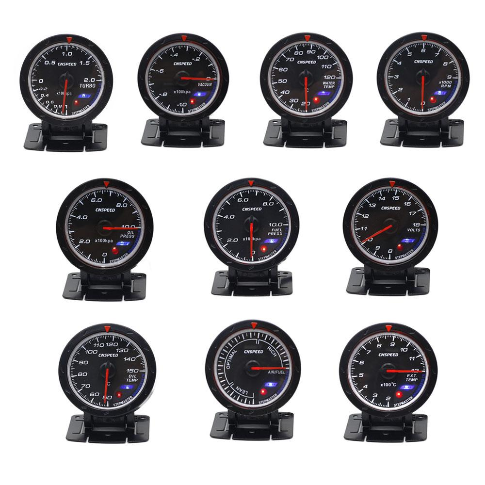 d69dfb08df81 2019 CNSPEED 60mm Boost Gauge Water Temperature Meter Voltmeter Oil  Temperature Gauge Pressure Turbo Oil Pressure From Nqingfeng