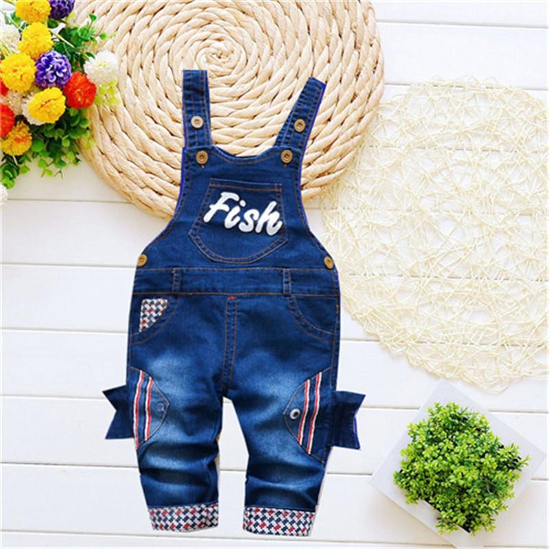 ef944ee00fd BibiCola Baby Girls Jeans Overalls Pants Trousers Infant Denim Cartoon Fish  Pocket Denim Rompers Bebe Jumpsuit For Baby Online with  37.42 Piece on ...