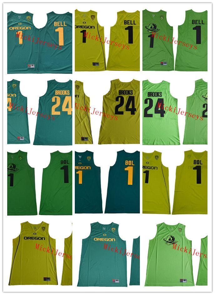 new products a962e d1baa Mens NCAA #1 Bol Bol Oregon Ducks College Basketball Jersey Stitched Blank  #1 Jorda Bell #24 Dillon Brooks Oregon Ducks Fighting Jersey S-3