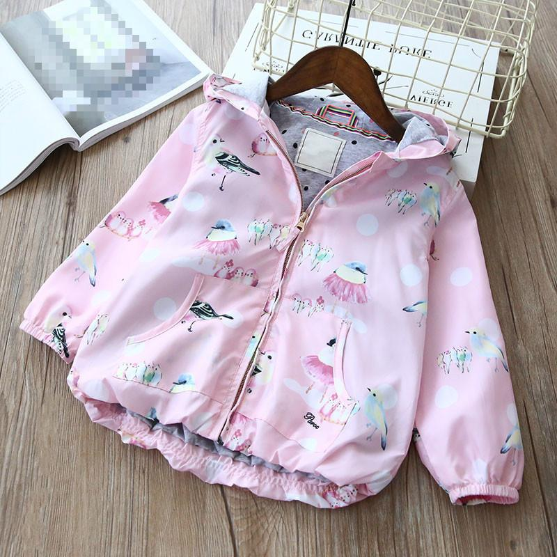 4a76e97e9 Spring Girls Coat Cartoon Hooded Fashion Kids Jackets with Zipper ...