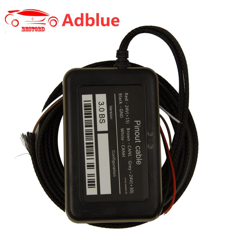 (10pcs/lot) Adblue 8 in 1 with Programing Adapter Truck Adblue Emulator  with NOx Sensor OBD2 Scanner with High Quality