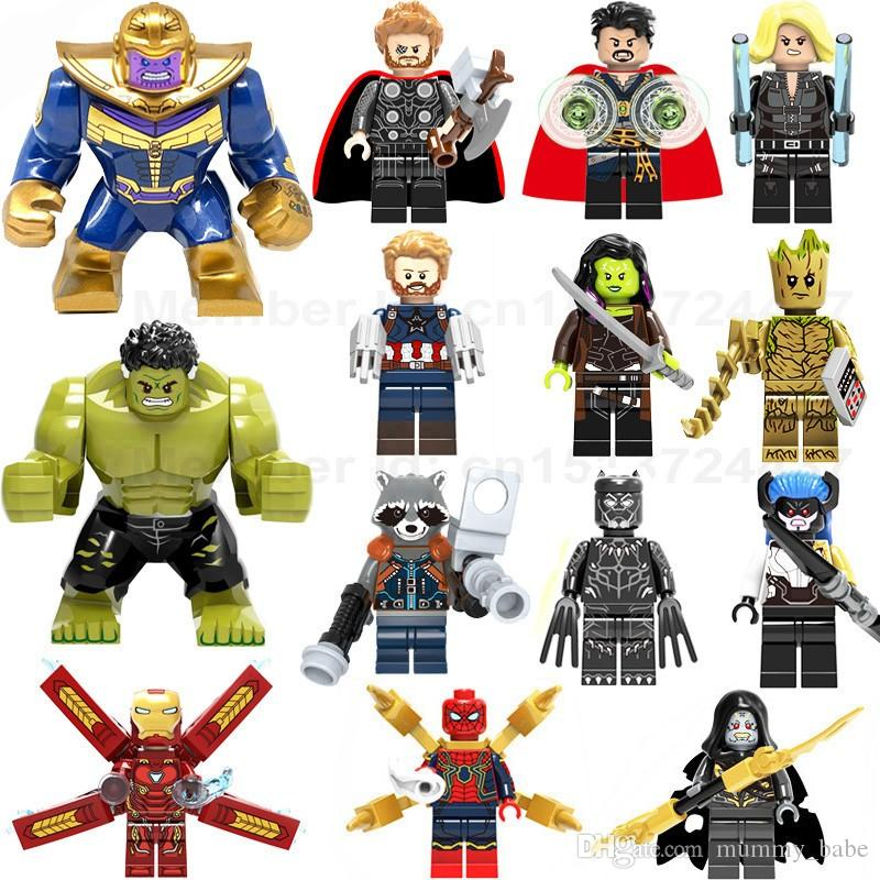 Super Heroes Legoed Marvel Avengers Infinity War Iron Man Thanos