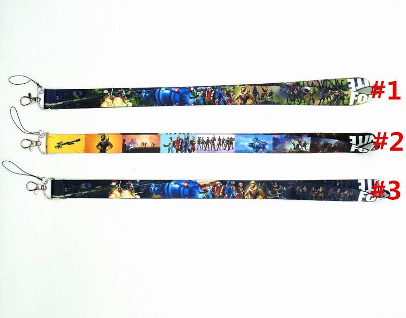 490783e99 Game Fortnite Neck Lanyard ID Badge Key Holder Chain BATTLE ROYALE ...