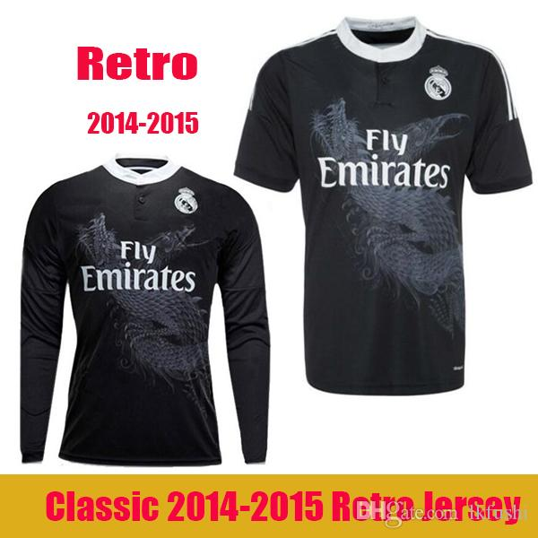 2014 2015 Real madrid camisas de futebol Retro 14 15 RONALDO JAMES BALE Benzema RAMOS ISCO casa longe 3ª camisa de futebol Retro camisas do Dragão