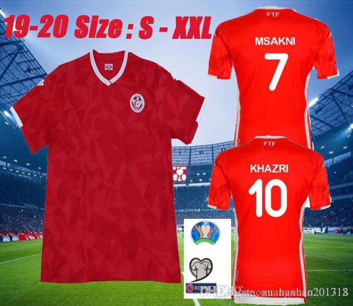 067cc2e8c 2019 Size S XXL 2019 Tunisia National Team Soccer Jerseys 19 20 Msakni  Khazri Sliti Wahbi Khaoui FAKHREDDINE BEN YOUSSE HAMZA Football Shirt From  ...