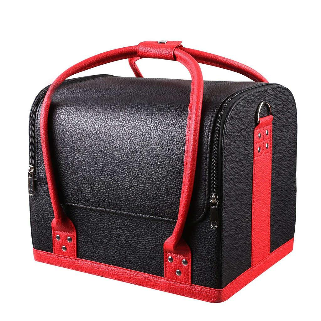 Professional Large Removable Pu Leather Cosmetic Makeup Vanity Box Jewelry  Saloon Case Bag Black UK 2019 From Trendone 06f290acaf22
