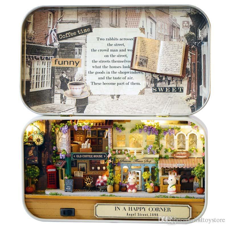 1:24 Lovely 34PCS 3Dwoodcraft wooden dollhouse doll house furniture kit