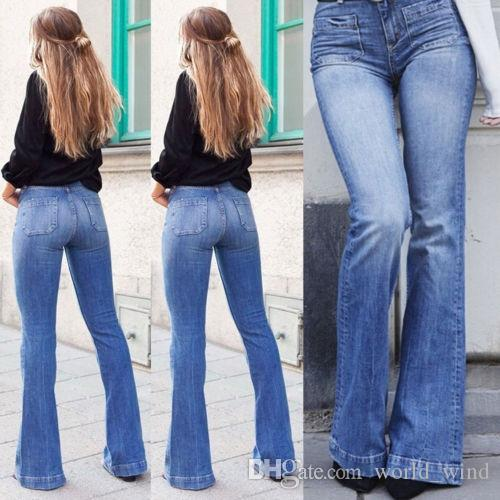 Bootleg Dames Denim Bootcut Pantalon Flare471983 Jeans Taille Haute Hot Stretch Femmes Femme Pants Casual eEDHI2YW9
