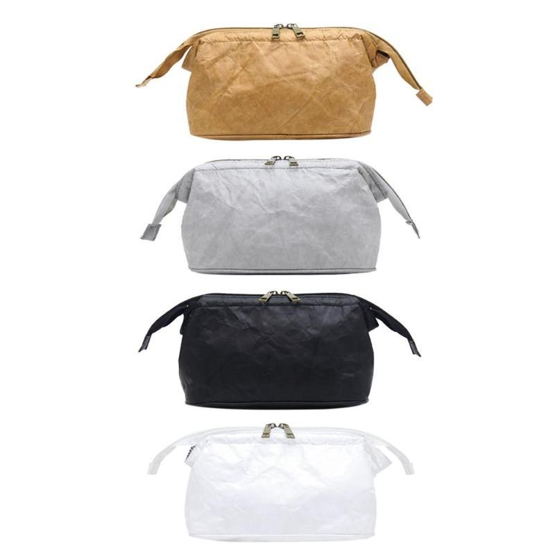 Solid Color Eco-friendly Zipper Clutch Women Money Phone Pouch Makeup Bags