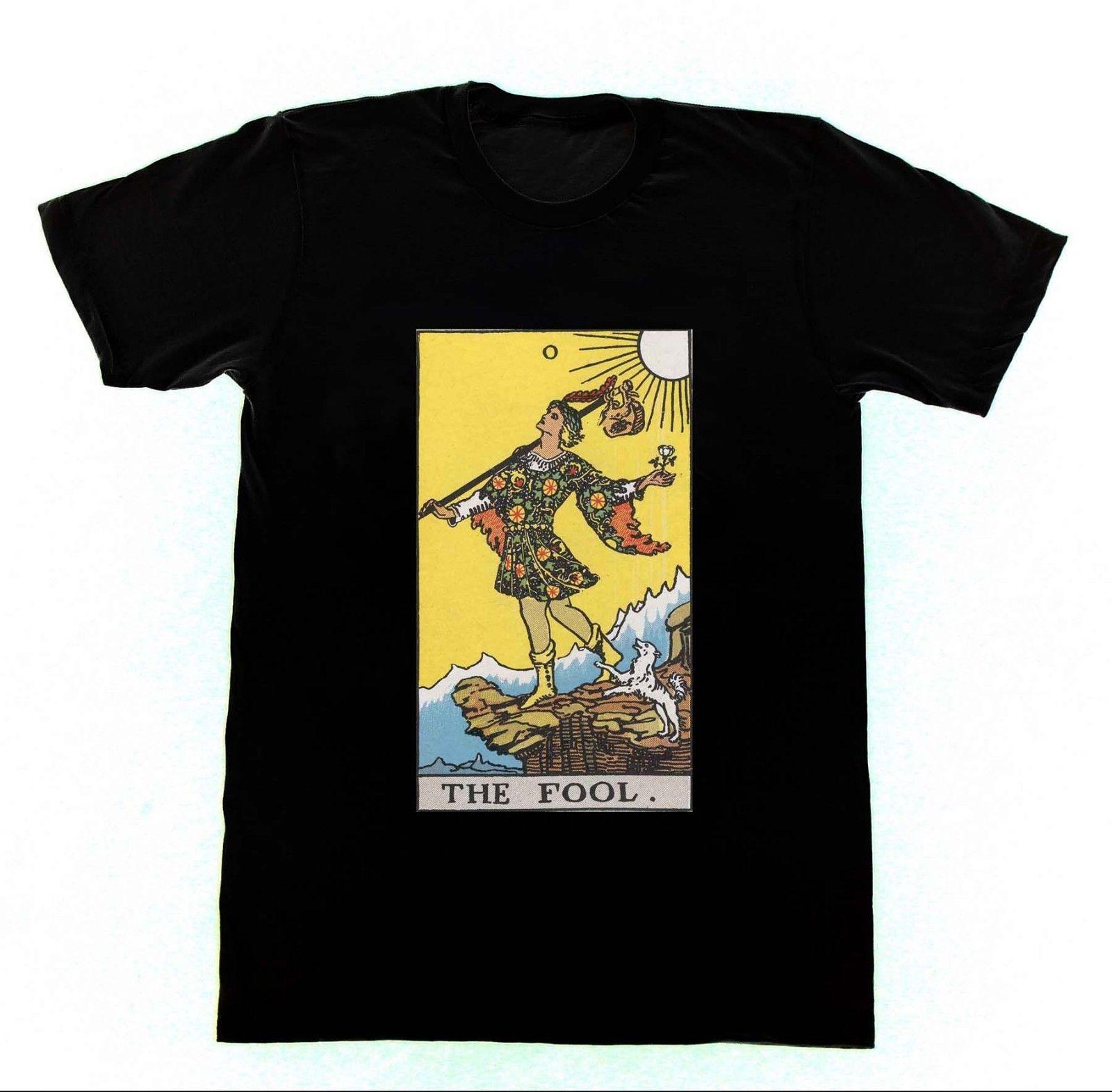 The Fool Shirt T7 Tshirt Ryder Tarot Card Fortune Telling Occult  WitchcraftFunny free shipping Unisex Casual