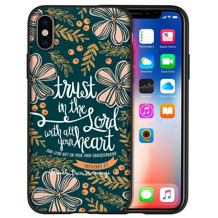 9f00de81653 Fundas God Jesus Quotes Phone Cases For IPhone XS Max XR X7 8 6S 6 Plus 5S  5 SE For IPod Touch 6 Black Soft Silicone Shell Cover. Custom Leather Cell  Phone ...