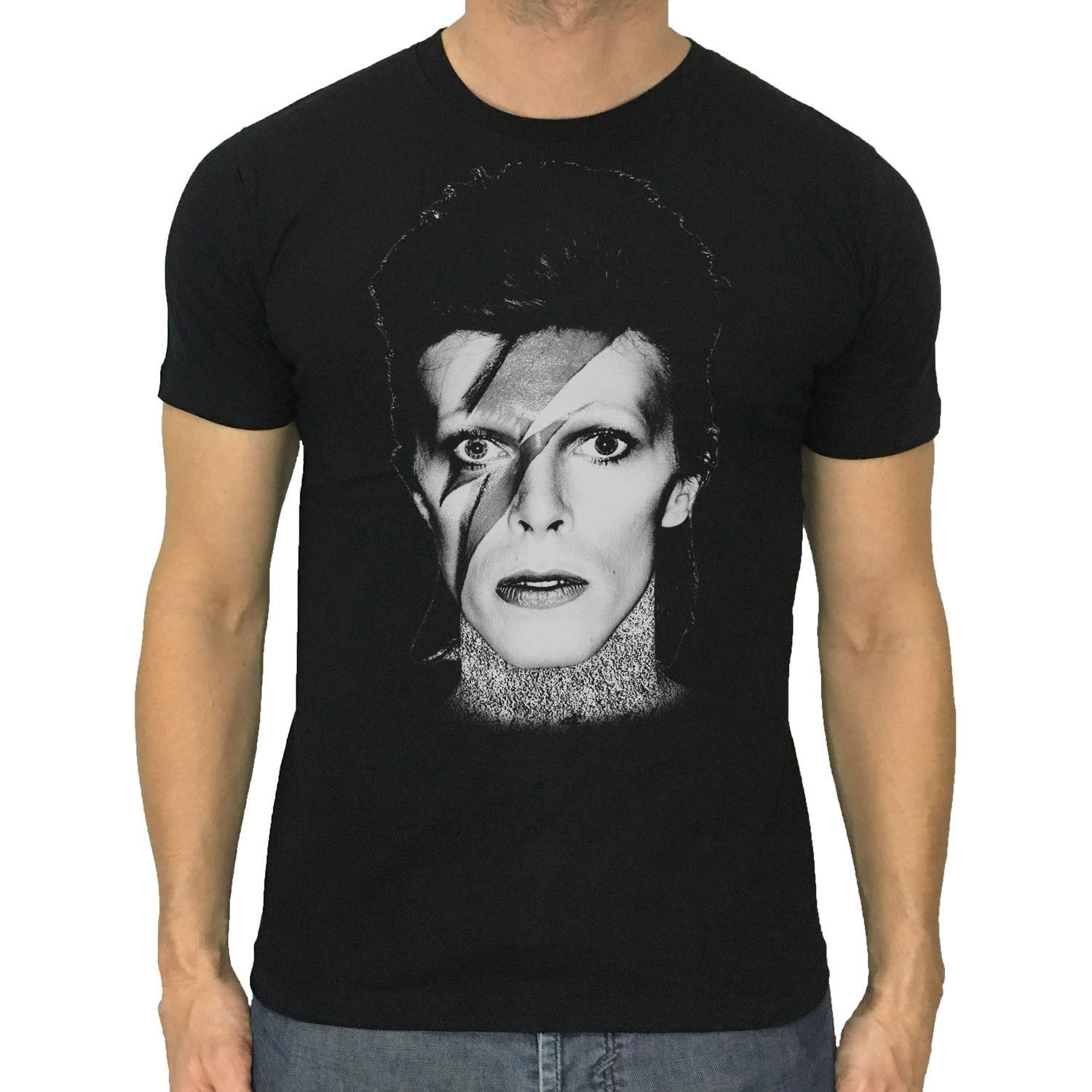 956c7291a David Bowie T Shirt Aladdin Sane New Men Black Or Dark Grey Shirt S To  2XLFunny Unisex Casual Tshirt Top Gag T Shirts T Shirts With Prints From ...