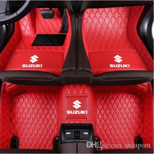 For Suzuki Swift 2013-2017 Car Floor Mats Front & Rear Liner Accessories  Non-slip waterproof leather Carpets Auto Luxury Pads LOGO