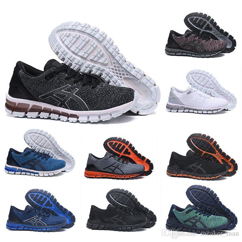Asics Chaussures de course ASIC Gel Quantum 360 Shift Cushioning pour hommes Weaves Vamp noir blanc rouge bleu