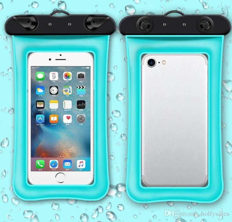 Flutuador universal airbag saco de natação à prova d 'água mobile phone case capa seca bolsa de mergulho à deriva caminhadas sacos de trekking para iphone xs max s10