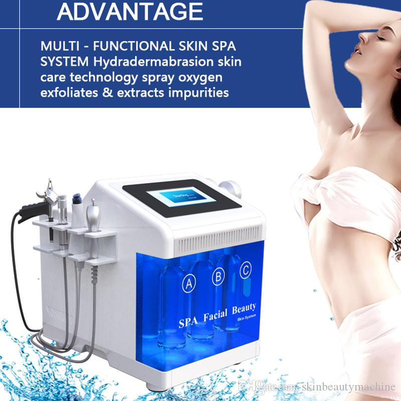 2019 Dermabrasion facial treatment facial care vacuum hydra aqua peel hydro dermabrasion ultrasonic facial blackhead extraction machine