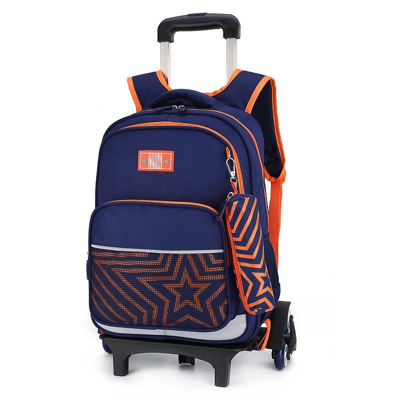 9899960e74 Waterproof Removable Trolley School Backpack Kids Wheeled Bags Children  School Bag Boys Girls Travel Bags Child School Backpacks Hobo Bags Kids  Backpacks ...