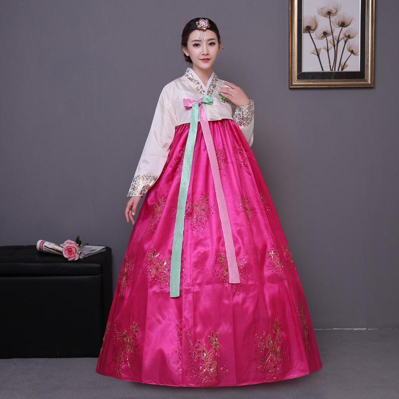 Acquista Paillettes Floreali Lady Hanbok Abito Antichi Vestiti Reali  Costume Tradizionale Coreano Abbigliamento Da Ballo Costume Da Ballo A   57.07 Dal ... cc24b4eb7ea