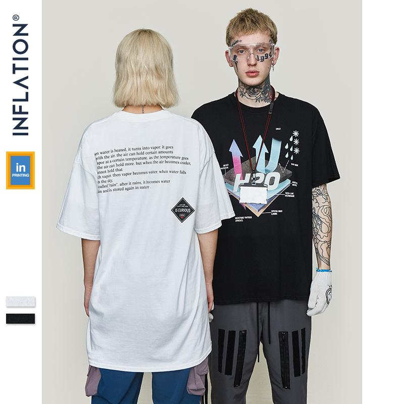 0a3b31611 INFLATION 2019 SS Collection Casual Cotton T Shirt Couples Tshirt Mens Hip  Hop Printed T Shirts Men Streetwear Top Tees 9133S Print Shirts Print T  Shirt ...