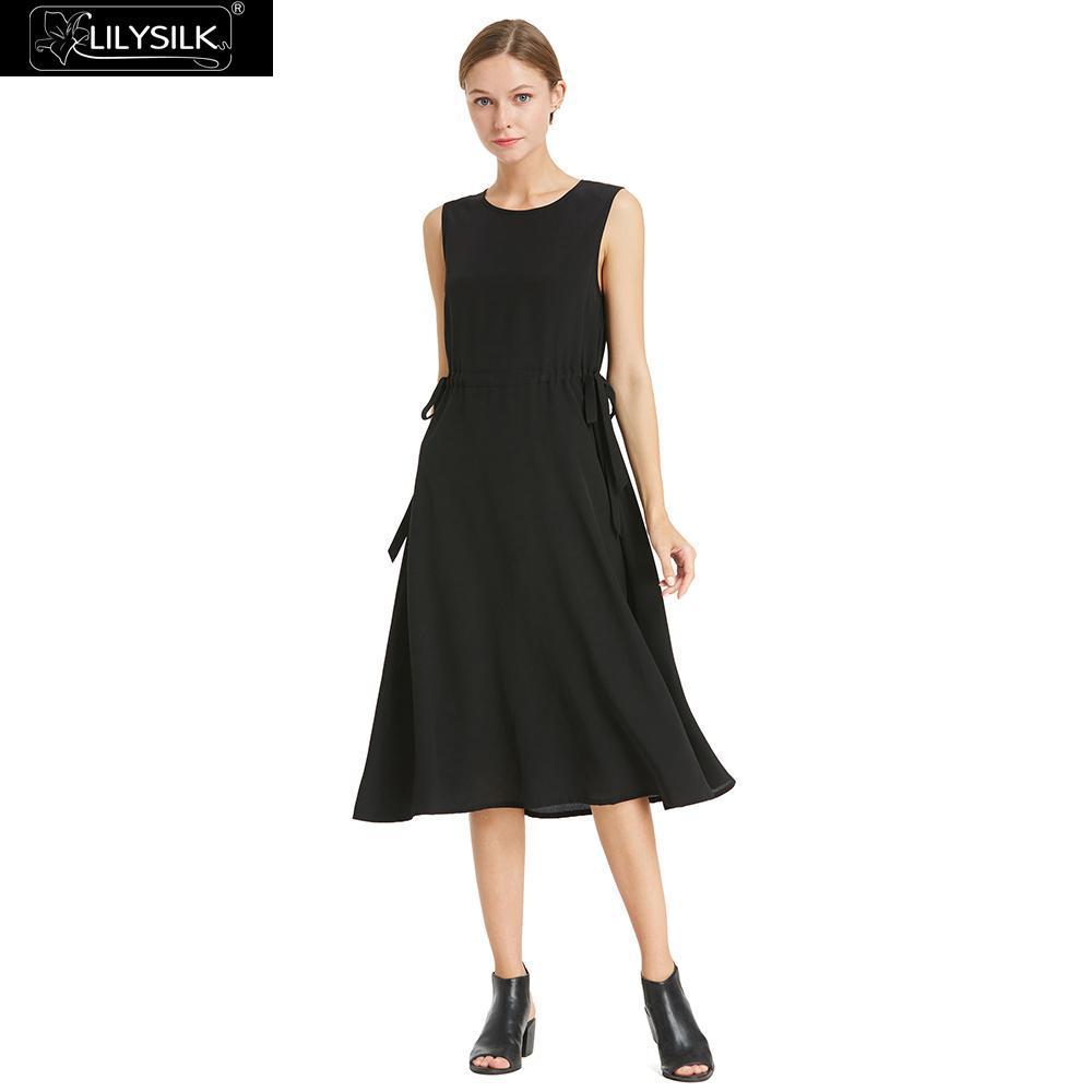 620f4ec06cae0 LILYSILK Dress Women Both Sides Drawstring Silk Free Shipping Clearance Sale