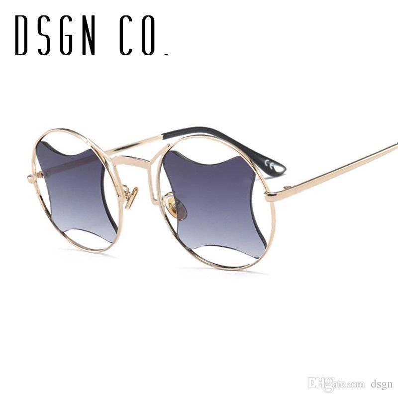 f42f2c6f0f DSGN CO. 2019 Round Irregular Designer Sunglasses For Men And Women ...