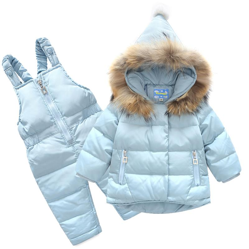 b93c1018a52 2019 New Boys Skid Brand Winter Children Clothing Set For Girls Jacket Coat  Overalls Warm Down Snow Suit Baby Kids Clothes Best Down Jacket For Kids  Long ...