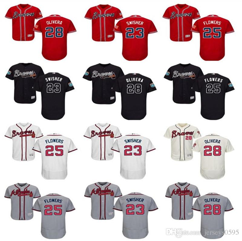 641a5cda0dc 2018 Custom Men s Women Youth Majestic Atlanta Braves Jersey  25 ...