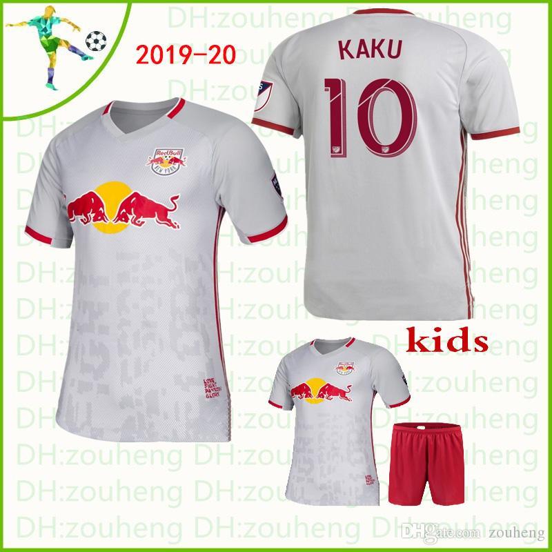 New York Red Bulls Soccer Jerseys 2019 20 Home White Kaku Ivan