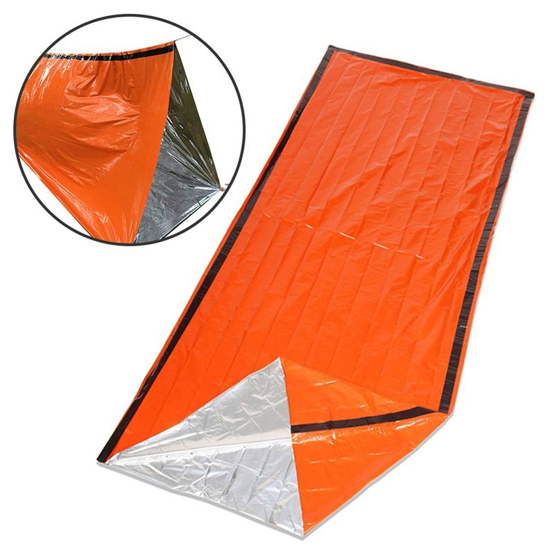 check out 73eb8 38dde Reusable Emergency Sleeping Bag Thermal Waterproof Survival Camping Bag