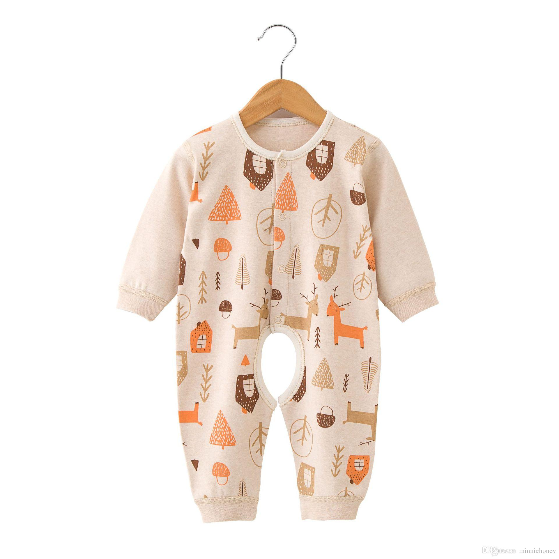 9fd0e37f8a96 2019 Kids Baby Boy Girl Romper Colored Organic Pure Cotton Romper ...