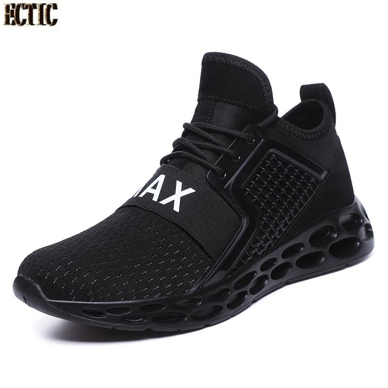 New Cool Running Shoes For Male Shockproof Mens Best Sneakers Breathable Outdoor Sports Shoes Men Knitting Sock Sneaker Men Various Styles Fitness & Body Building