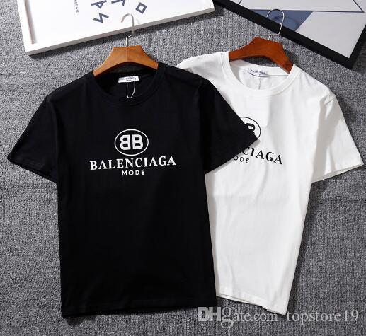 87ecca11c Hot Men BOSS T Shirt Brand BB MODE Logo Letter Printed T-shirt Short ...