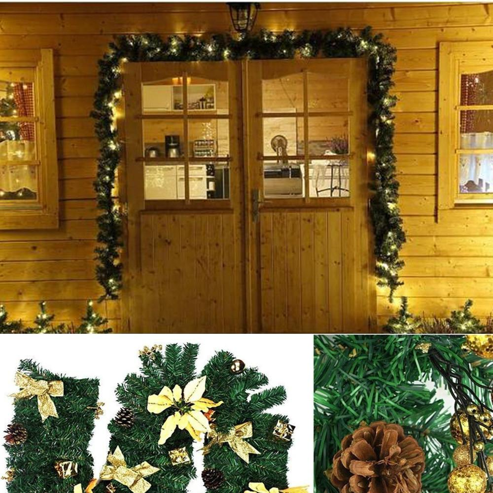Led 2 7m Christmas Decoration Ornaments Xmas Tree Garland Rattan Home Wall Pine 2018 New Arrival Hot Sale