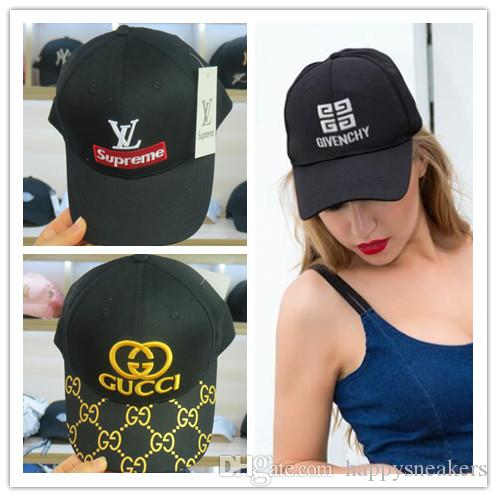 3ed626435 Luxury Designer Brand SUP Hats Summer Women Men Casual GG Cap Embroidery  Adjustable Snapback Baseball Hats Fashion Hip Hop Cap