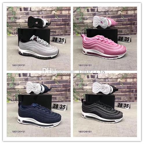2019 nuevos Bebés Niños 97 Zapatos Kanye West 270 Zebra Running Shoes 2019 Niños Athletic Beluga 2.0 Zapatillas deportivas Negro plateado Dorado