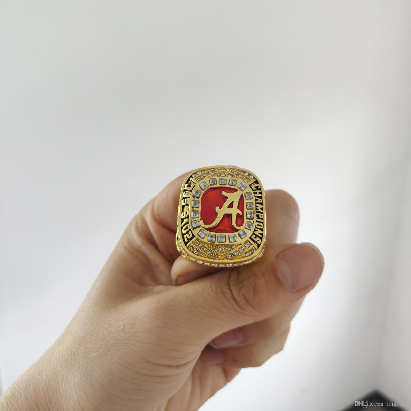 sports shoes d7155 76ae3 2019 wholesale 16 Alabama Crimson Tide SEC Football Championship Ring Fan  Men Gift Wholesale Drop Shipping