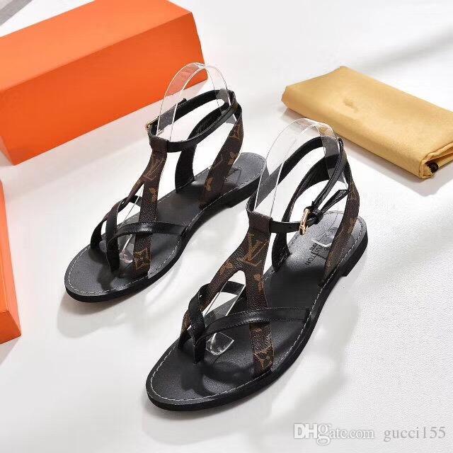 Sandalias de diseñador de la marca Super Las sandalias Gladiator están hechas de cuero vintage Las sandalias femeninas Calzado de mujer gnb1132 N21